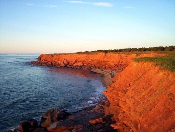 Acantilados rojos. Prince Edward Island